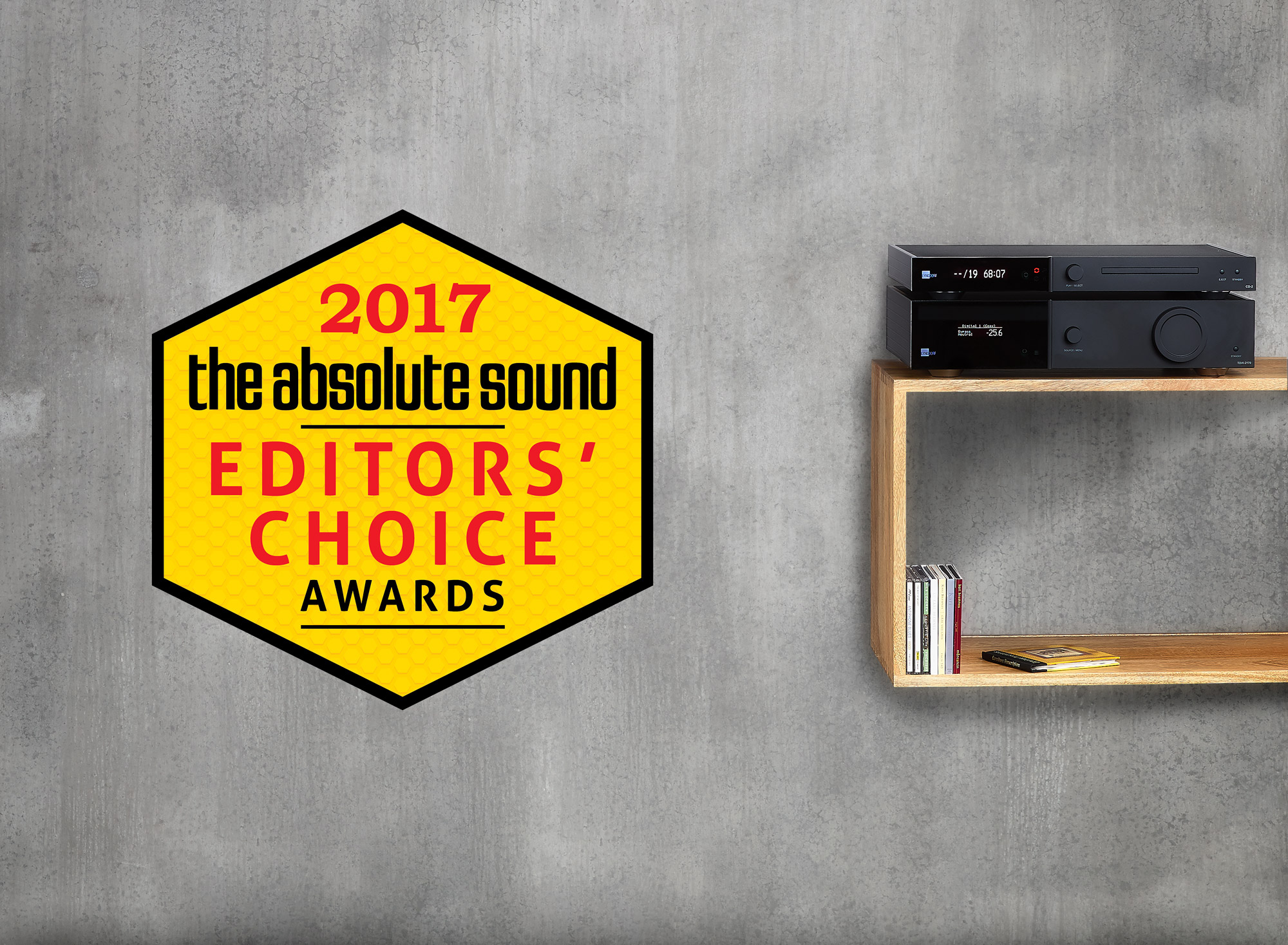 The Absolute Sound Editors Choice Award Lyngdorf TDAI-2170 Integrated Stereo Amplifier